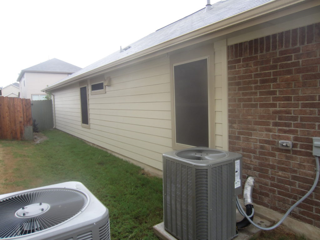 80% Austin TX solar window screens for the left side of the home, a total of 3.