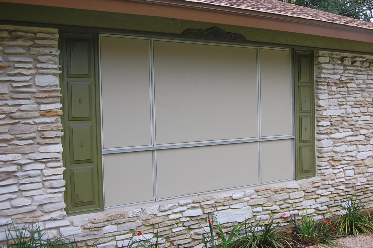 An issue that we have with the beige solar screen fabric as well as any of the three light solar screen fabrics the grey and a stucco solar screen fabrics